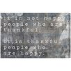 Oliver Gal 'Happy People' by Blakely Home Typography Wrapped on Canvas