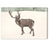 Oliver Gal 'Lone Reindeer' by Blakely Home Art Print Wrapped on Canvas