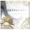 Oliver Gal 'Namaste Grey' by Blakely Home Graphic Art Wrapped on Canvas