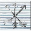 Oliver Gal Silver Arrows by Runway Avenue Graphic Art Wrapped on Canvas