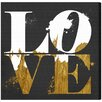 Oliver Gal Real Love by Runway Avenue Typography Wrapped on Canvas