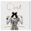 Oliver Gal Cest La Vie by Runway Avenue Graphic Art Wrapped on Canvas