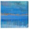 Oliver Gal Artana Aqua Lapsum Art Print Wrapped on Canvas