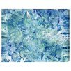 Oliver Gal Artana Blue Crystals Art Print Wrapped on Canvas