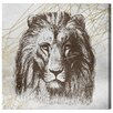 Oliver Gal Geometric Lion A by Canyon Gallery Graphic Art Wrapped on Canvas