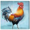 Oliver Gal Spring Rooster II by Canyon Gallery Graphic Art Wrapped on Canvas