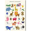 Oliver Gal Alphabet by Olivias Easel Graphic Art Wrapped on Canvas