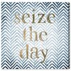 Oliver Gal Seize the Day Typography Wrapped on Canvas