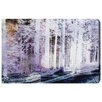 Oliver Gal White Forest by Canyon Gallery Graphic Art Wrapped on Canvas