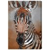 Oliver Gal Canyon Gallery Zebra Colt Art Print Wrapped on Canvas