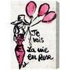 Oliver Gal 'La Vie En Rose' Art Print Wrapped on Canvas