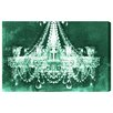 Oliver Gal 'Dramatic Entrance Green' Graphic Art Wrapped on Canvas