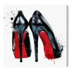 Oliver Gal 'Red Soles' Art Print Wrapped on Canvas
