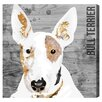 Oliver Gal Love My Bull Terrier Art Print Wrapped on Canvas
