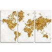 Oliver Gal All The Love in The World 3 Piece Graphic Art Wrapped on Canvas Set