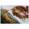 Oliver Gal The Creation of the Dog by Art Remedy Graphic Art Wrapped on Canvas