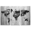 Oliver Gal Mapamundi 3 Piece Graphic Art Wrapped on Canvas Set