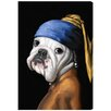 Oliver Gal Dog with the Pearl Earring by Art Remedy Graphic Art Wrapped on Canvas