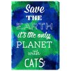 Oliver Gal Cat Planet by Hatcher and Ethan Vintage Advertisement Wrapped on Canvas
