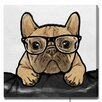 Oliver Gal Oliver Gal Nerdy Frenchman by Art Remedy Graphic Art Wrapped on Canvas