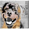 Oliver Gal Love My Rottweiler Art Prints Wrapped on Canvas