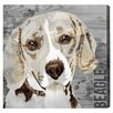Oliver Gal Love My Beagle Art Prints Wrapped on Canvas