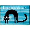 Oliver Gal Where the Cat is by Art Remedy Graphic Art Wrapped on Canvas