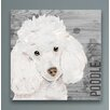 Oliver Gal Love My Poodle Art Prints Wrapped on Canvas