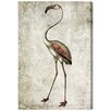 Oliver Gal 'Vintage Flamingo' Art Print Wrapped on Canvas
