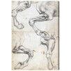Oliver Gal 'Da Vinci Horse Studies I' Graphic Art Wrapped on Canvas