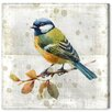 Oliver Gal 'Blue Bird' Graphic Art Wrapped on Canvas