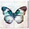 Oliver Gal 'Butterfly Love' Graphic Art Wrapped on Canvas