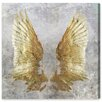 Oliver Gal 'My Golden Wings' by Art Remedy Graphic Art Wrapped on Canvas