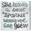 Oliver Gal She Leaves a Little Spark' by Art Remedy Typography Wrapped on Canvas