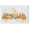 Oliver Gal 'NY Rock Skyline' by Art Remedy Graphic Art Wrapped on Canvas