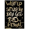Oliver Gal Seize The Day Gold Night' by Art Remedy Typography Wrapped on Canvas