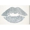 Oliver Gal 'Solid Kiss Silver' by Art Remedy Graphic Art Wrapped on Canvas