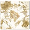 Oliver Gal 'Gold Flower Scent V2' by Art Remedy Graphic Art Wrapped on Canvas