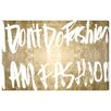 Oliver Gal I Am Fashion' by Art Remedy Typography Wrapped on Canvas