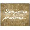 Oliver Gal Champagne Problems Gold' by Art Remedy Typography Wrapped on Canvas