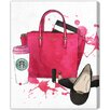 Oliver Gal 'Bags, Shoes and Coffee' by Art Remedy Art Print Wrapped on Canvas