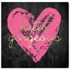 Oliver Gal 'Gorgeous Salute Hot Pink' by Art Remedy Graphic Art Wrapped on Canvas