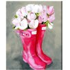Oliver Gal 'Tulips & Rainboots' by Art Remedy Art Print Wrapped on Canvas