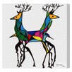 Oliver Gal 'Be Deer' by Manuel Roman Graphic Art Wrapped on Canvas