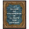 Oliver Gal 'Glass of Champagne' by Carson Kressley Framed Typography Wrapped on Canvas