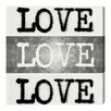 Oliver Gal 'Phyllum Design - Poet's Love' Typography Wrapped on Canvas