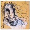 Oliver Gal 'Horse Study' by Carson Kressley Art Print Wrapped on Canvas