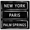 Oliver Gal 'Train Stations Palm Springs' by Carson Kressley Typography Wrapped on Canvas