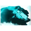 Oliver Gal 'Absorbed Neon Blue' by Carson Kressley Graphic Art Wrapped on Canvas