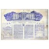 Oliver Gal 'The White House Blueprint' by Art Remedy Vintage Advertisement Wrapped on Canvas
